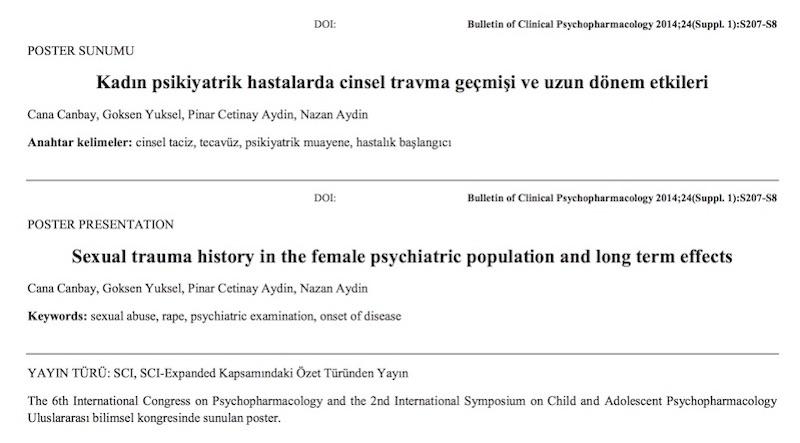 Kadın psikiyatrik hastalarda cinsel travma geçmişi ve uzun dönem etkileri