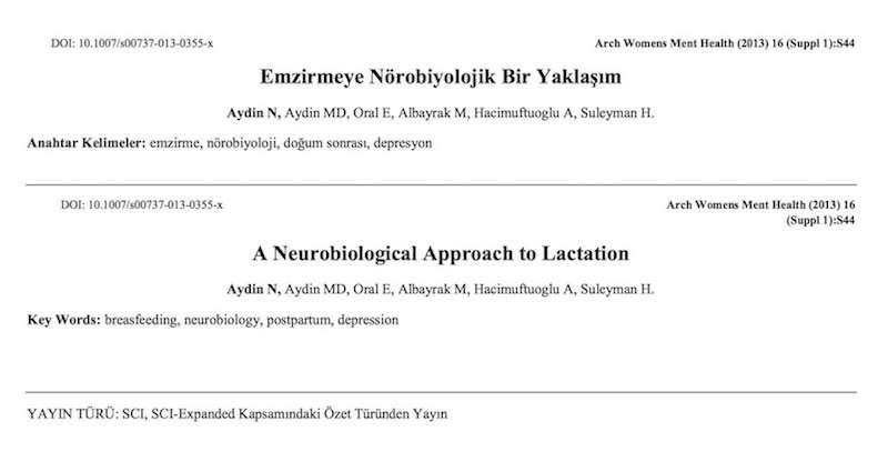 Emzirmeye Nörobiyolojik Bir Yaklaşım