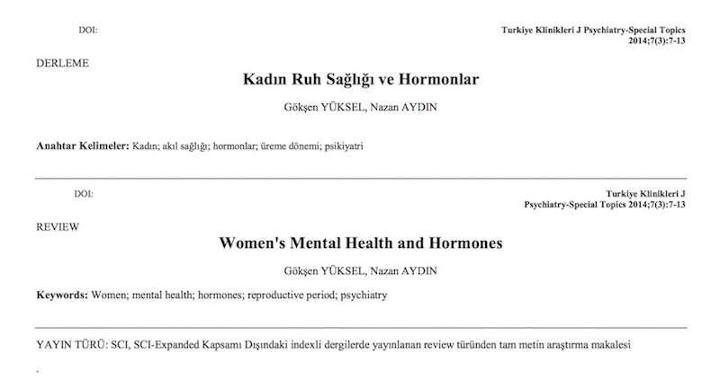 Kadın Ruh Sağlığı ve Hormonlar
