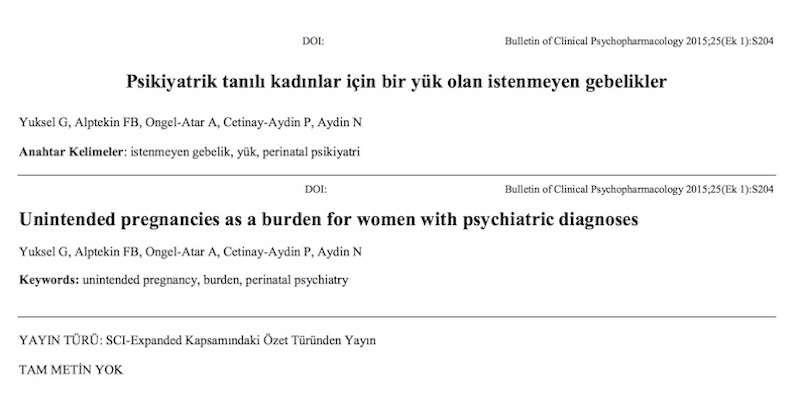 Psikiyatrik tanılı kadınlar için bir yük olan istenmeyen gebelikler