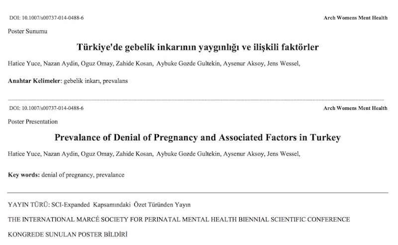 Türkiye'de gebelik inkarının yaygınlığı ve ilişkili faktörler
