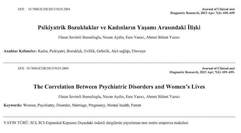 Psikiyatrik Bozukluklar ve Kadınların Yaşamı Arasındaki İlişki