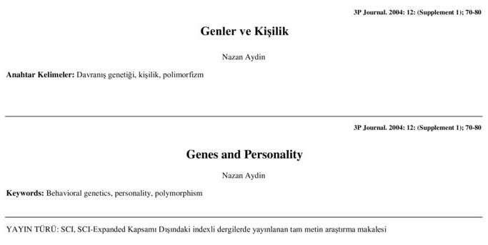 Genler ve Kişilik