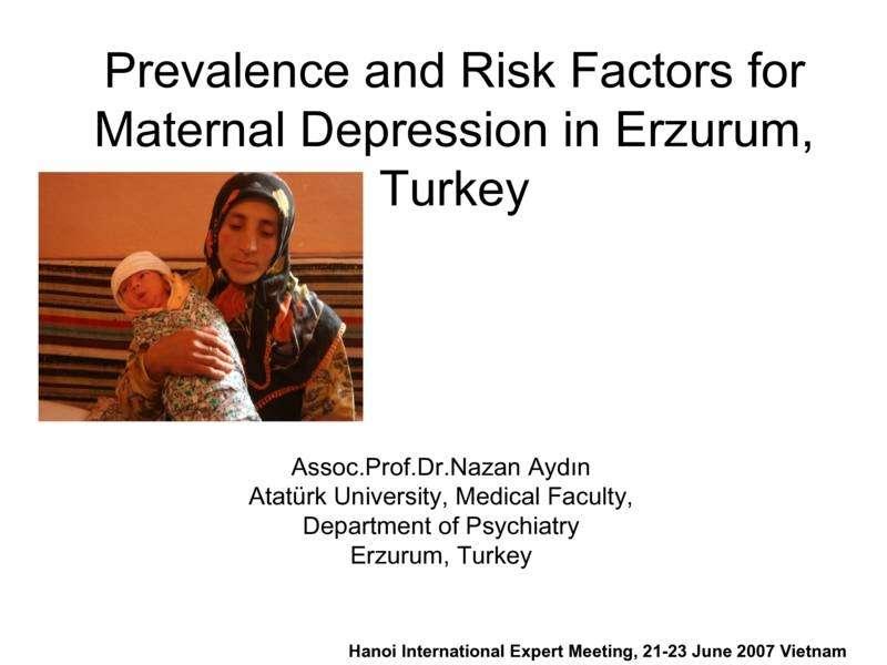 Erzurum, Türkiye'de Annelerde Depresyon Yaygınlığı ve Risk Faktörleri