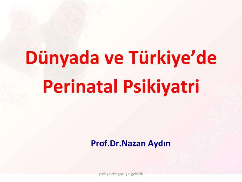 Dünyada ve Türkiyede Perinatal Psikiyatri